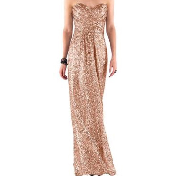 aa451b01 SORELLA VITA Dresses   Rose Gold Sequined Bridesmaid Dress   Poshmark